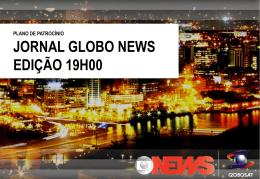 plano de patrocínio jornal globo news edição