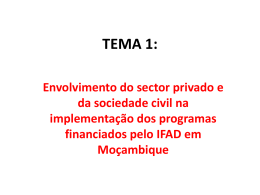 Envolvimento do sector privado e da sociedade civil na