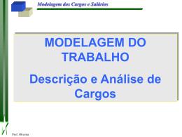 Modelagem dos Cargos e Salários