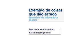 Redes Pervasivas - Centro de Informática da UFPE