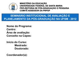 MODELO APRESENTAÇÃO-Seminário Avaliacao e
