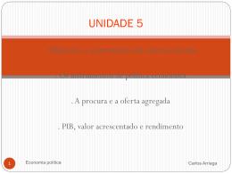 unidade 5 -objectivos e instrumentos da macroeconomia