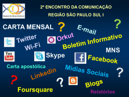 Encontro da Comunicação 2010 - Power Point