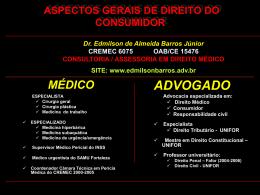 aspectos gerais de direito do consumidor médico