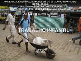 Organização Internacional do Trabalho Infantil