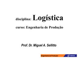 Prof. Dr. Miguel Sellitto: Engenharia de Produção