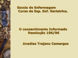 Anadias T. Camargos - O consentimento Informado