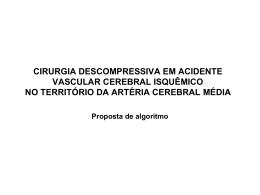cirurgia descompressiva em avc em território de artéria