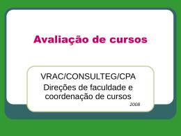 Avaliação de cursos - PUC-SP