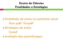 Actividades Linguisticas no Ensino das Ciências - Lisbon