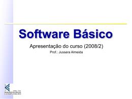 SISTEMAS DE COMPUTAÇÃO Curso de Especialização em Redes