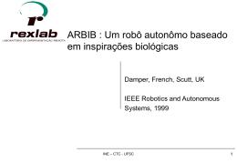 ARBIB : Um robô autonômo baseado em inspiração biológica