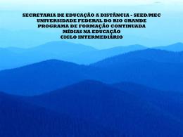 PROJETO CAMÂRA ESCURA - NEAD