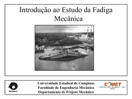 Introd_Fadiga - Faculdade de Engenharia Mecânica