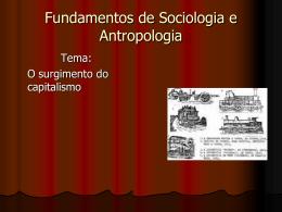 SOCIOLOGIA / NUTRIÇÃO