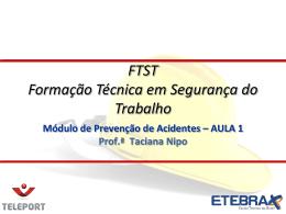 A Legislação Prevencionista no Brasil