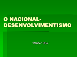 O Nacional Desenvolventismo