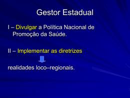 POLITICA NACIONAL DE PROMOCAO DA SAUDE