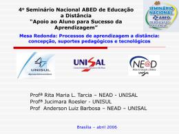 4 o Seminário Nacional ABED de Educação a Distância