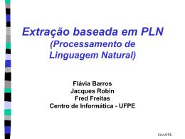 NLP-based - Centro de Informática da UFPE