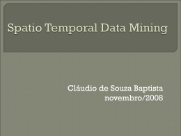 Spatio Temporal Data Mining