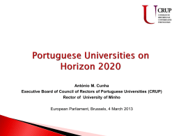 Portuguese Universities on Horizon 2020