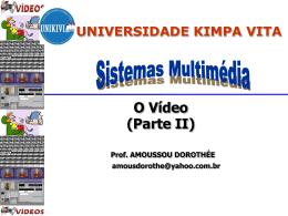 Codificação/Compressão de Vídeo