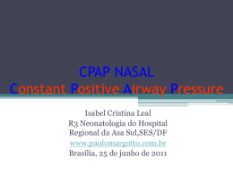 CPAP nasal - Paulo Roberto Margotto