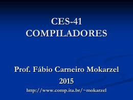 CES-41 Teoria Cap Zero - Divisão de Ciência da Computação