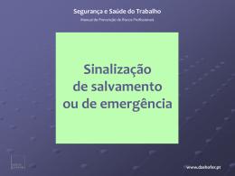 4. sinais de salvamento ou de emergência