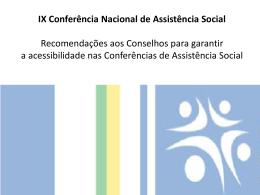 Conferencias 2013 - ACESSIBILIDAD
