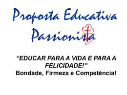 Apresentação do PowerPoint - Colégio Passionista São Paulo da