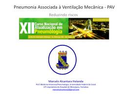 Pneumonia Associada à Ventilação Mecânica