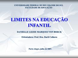 LIMITES NA EDUCAÇÃO INFANTIL DANIELLE