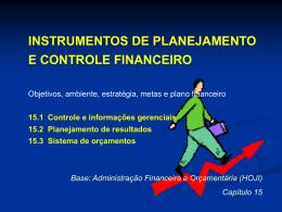 instrumentos de planejamento e controle financeiro