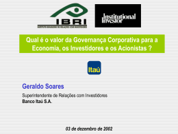 Política de Ri do Banco Itaú