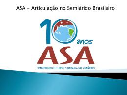 A ASA e o Programa Um Milhão de Cisternas Rurais – P1MC