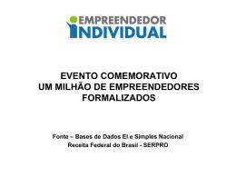 EVENTO COMEMORATIVO UM MILHÃO DE EMPREENDEDORES