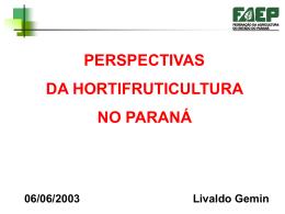 Perspectivas da Fruticultura no Paraná