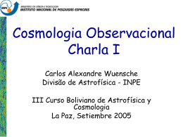 Cosmologia - Divisão de Astrofísica