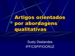 Apresentação de dados qualitativos