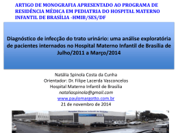 (HRAS/HMIB-Pediatria-2014):Diagnóstico de infecção do trato urinário