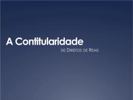 apresentação VI: contitularidade