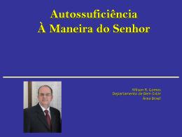 Slide 1 - Autossuficiência Brasil