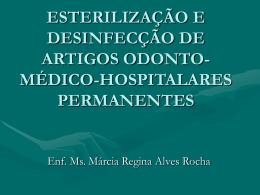 esterilização e desinfecção de artigos odonto-médico