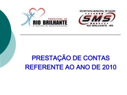 Slide 1 - Prefeitura de Rio Brilhante