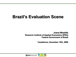 Brasil - NATIONAL EVALUATION CAPACITIES