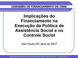 São Paulo/SP – abril de 2007
