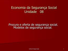 Economia da Segurança Social Unidade 01