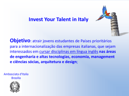 Roberto Spandre: Invest your talent in Italy.
